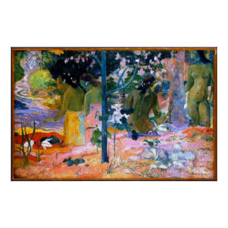 bathers paul gauguin painting art poster