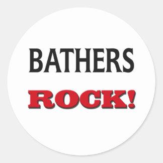 Bathers Rock Classic Round Sticker