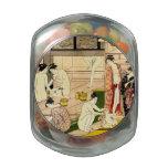 Bathhouse 1780 glass candy jar
