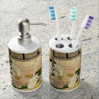 Bathhouse 1780 soap dispenser and toothbrush holder