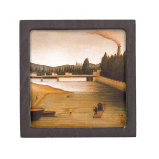 Bathing at Alfortville by Henri Rousseau Gift Box