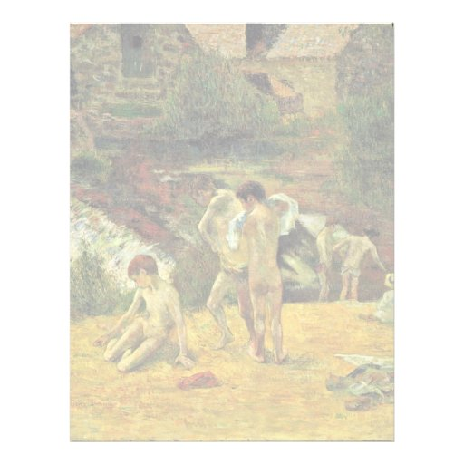 Bathing At The Mill Of The Bois D'Amour, Pont-Aven Customized Letterhead