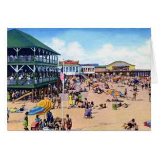 Bathing Beach at Long Branch New Jersey Greeting Card