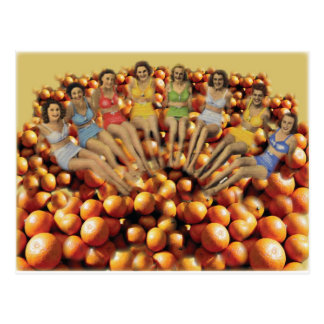 Bathing Beauties and Oranges Post Cards