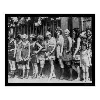 Bathing Beauties Contest in Washington, DC 1920 Poster