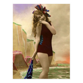 Bathing Beauties of the Past Postcard