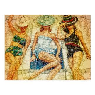 Bathing beauties post card