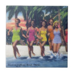 BATHING BEAUTIES SMALL SQUARE TILE