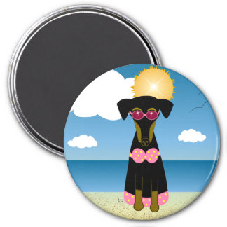 Bathing Beauty 3 Inch Round Magnet