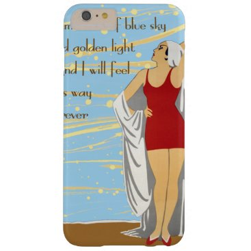 Beach Themed Bathing Beauty at the Beach Barely There iPhone 6 Plus Case