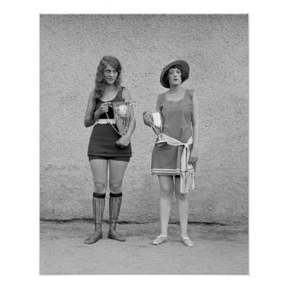 Bathing Beauty Contest, 1922. Vintage Photo Poster