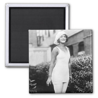 Bathing Beauty, early 1900s 2 Inch Square Magnet