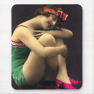 Bathing Beauty in Green Mouse Pad