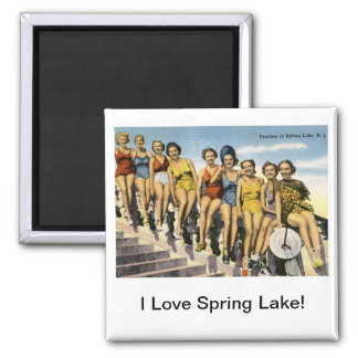 Bathing Beauty Peaches, Spring Lake Vintage 2 Inch Square Magnet