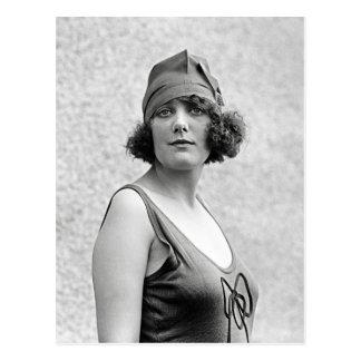 Bathing Beauty Portrait, 1922 Postcard