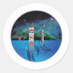 Bathing Beauty sitting on no wake zone marker Sticker