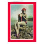 Bathing Beauty Vintage Look Greeting Card