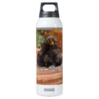 Bathing Bird Insulated Water Bottle