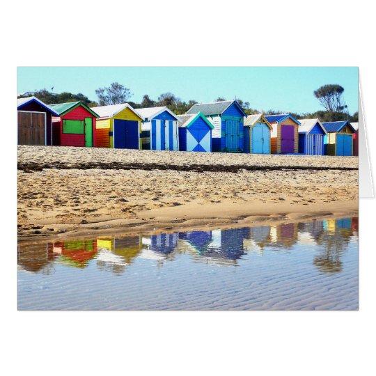 Bathing Boxes, Brighton Beach Card