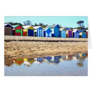 Bathing Boxes, Brighton Beach Greeting Cards