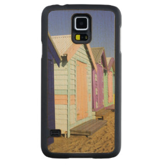 Bathing Boxes, Middle Brighton Beach, Port Carved® Maple Galaxy S5 Case
