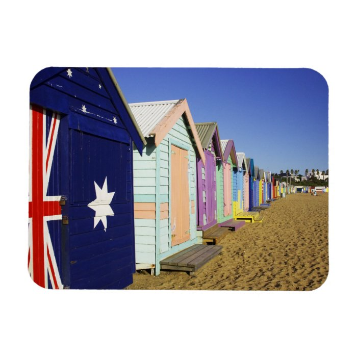 Bathing Boxes, Middle Brighton Beach, Port Rectangular Photo Magnet