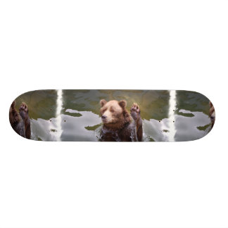 Bathing Brown Bear Skateboard