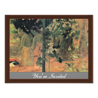 Bathing By Gauguin Paul (Best Quality) Custom Invitation