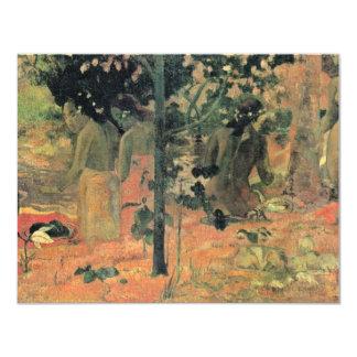 Bathing By Gauguin Paul (Best Quality) Custom Invitations