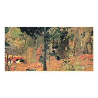 Bathing By Gauguin Paul (Best Quality) Personalized Photo Card