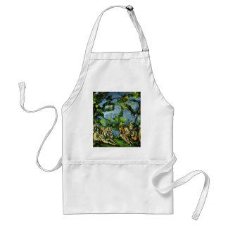 Bathing By Paul Cézanne (Best Quality) Adult Apron
