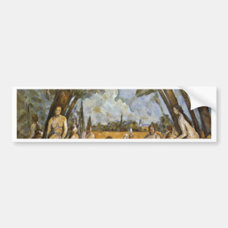 Bathing By Paul Cézanne (Best Quality) Car Bumper Sticker