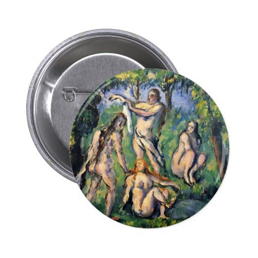 Bathing By Paul Cézanne (Best Quality) Buttons