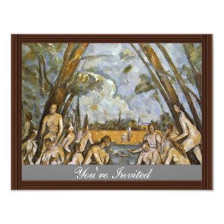 Bathing By Paul Cézanne (Best Quality) Custom Announcements