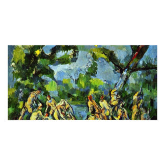 Bathing By Paul Cézanne (Best Quality) Customized Photo Card