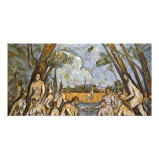 Bathing By Paul Cézanne (Best Quality) Custom Photo Card