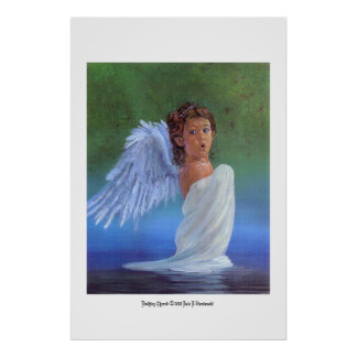 Bathing Cherub Poster
