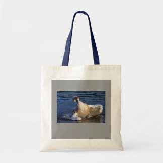Bathing Cygnet Tote Bag
