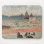 Bathing Dieppe by Gauguin, Vintage Impressionism Mouse Pad