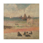 Bathing Dieppe by Gauguin, Vintage Impressionism Wood Canvas