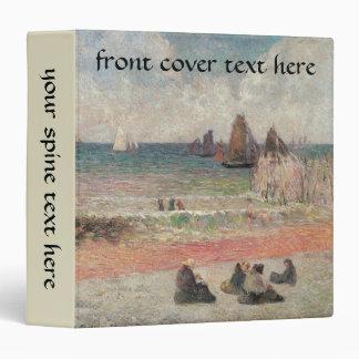 Bathing Dieppe by Paul Gauguin, Vintage Fine Art 3 Ring Binder