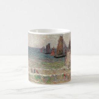 Bathing Dieppe by Paul Gauguin, Vintage Fine Art Coffee Mug