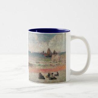 Bathing Dieppe by Paul Gauguin, Vintage Fine Art Two-Tone Coffee Mug