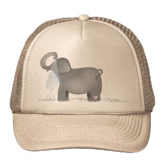 Bathing Elephant Trucker Hat
