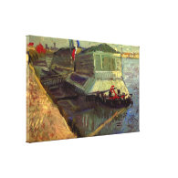 Bathing Float on the Seine at Asniere by Van Gogh. Gallery Wrap Canvas