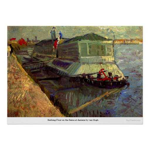Bathing Float on the Seine at Asniere by van Gogh Posters