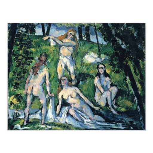 "Bathing (Four Bathers) By Paul Cézanne 4.25"" X 5.5"" Invitation Card"