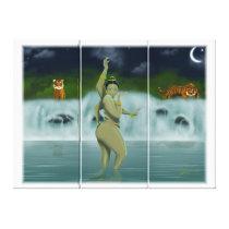 Bathing Goddess Canvas Print