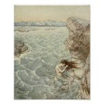 Bathing in a Sea Cove Poster