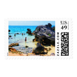 Bathing in the Ocean St. George Bermuda Postage